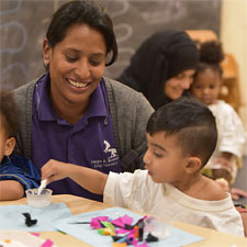 Early years education at Leaps & Bounds Day Nursery, Edgbaston, Birmingham