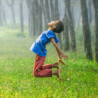 The natural world gives children freedom