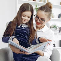 Reading with an adult boosts language skills and improves overall literacy